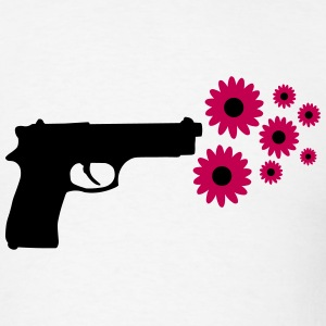Gun and Flowers T-Shirts - Men's T-Shirt