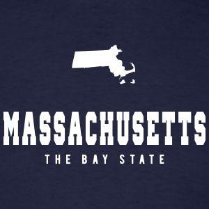 Massachusetts Shape T-Shirts - Men's T-Shirt