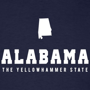Alabama Shape T-Shirts - Men's T-Shirt