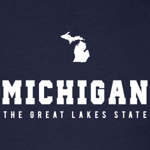 Michigan Shape T-Shirts - Men's T-Shirt