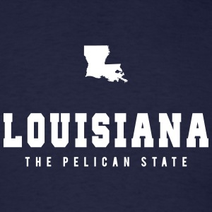 Louisiana Shape T-Shirts - Men's T-Shirt