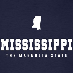 Mississippi Shape T-Shirts - Men's T-Shirt