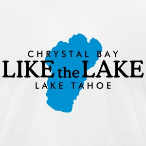 Lake Tahoe Crystal Bay T-Shirt (Men/White) - Men's T-Shirt by American Apparel