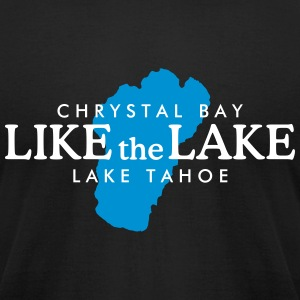 Lake Tahoe Crystal Bay T-Shirt (Men/Black) - Men's T-Shirt by American Apparel