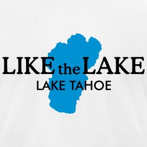 Lake Tahoe T-Shirt (Men/White) - Men's T-Shirt by American Apparel