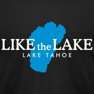 Lake Tahoe T-Shirt (Men/Black) - Men's T-Shirt by American Apparel
