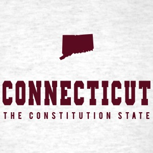 Connecticut Shape T-Shirts - Men's T-Shirt