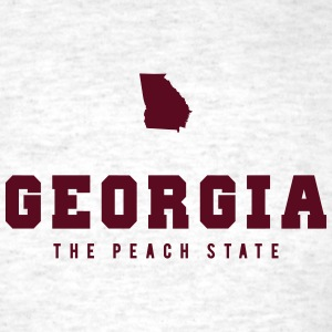 Georgia Shape T-Shirts - Men's T-Shirt
