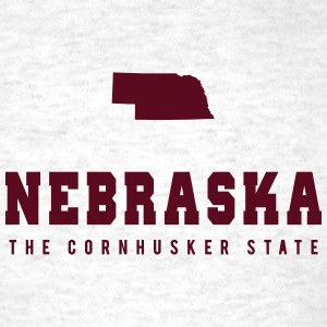 Nebraska Shape T-Shirts - Men's T-Shirt