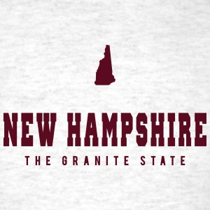 New Hampshire Shape T-Shirts - Men's T-Shirt