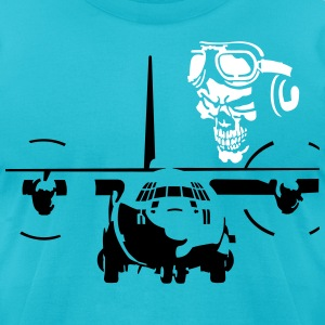skull pilot T-Shirts - Men's T-Shirt by American Apparel