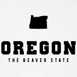 Oregon Shape T-Shirts - Men's T-Shirt