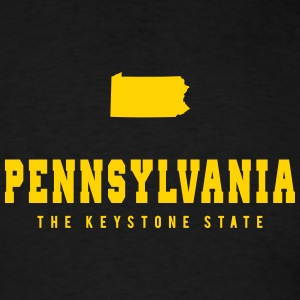Pennsylvania Shape T-Shirts - Men's T-Shirt