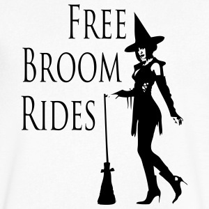 Free Broom Rides T-Shirts - Men's V-Neck T-Shirt by Canvas