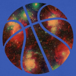 basketball galaxy T-Shirts - Men's V-Neck T-Shirt by Canvas