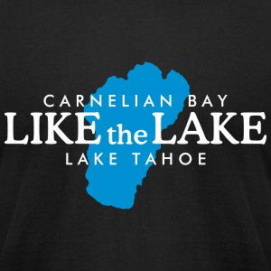 Carnelian Bay Lake Tahoe - Like the Lake (White) T-Shirts - Men's T-Shirt by American Apparel