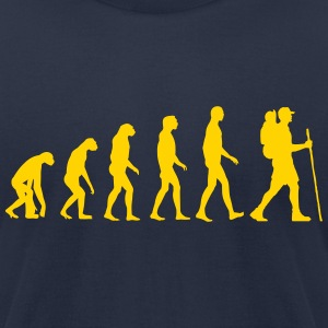 Hiking Evolution T-Shirts - Men's T-Shirt by American Apparel