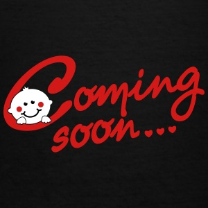 Coming soon... - Pregnancy - Maternity Women's T-Shirts - Women's V-Neck T-Shirt