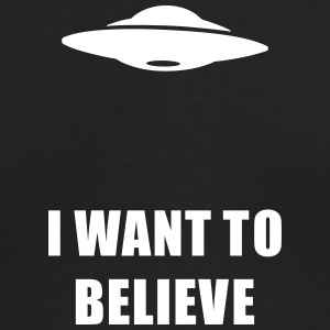 I want to believe Long Sleeve Shirts - Men's Long Sleeve T-Shirt by Next Level