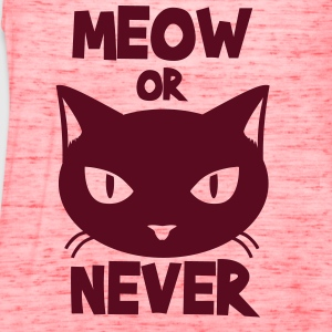 Meow or never Tanks - Women's Flowy Tank Top by Bella