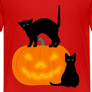 Halloween: Cat and Pumpkin 1 Kids' Shirts - Kids' Premium T-Shirt