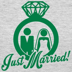 Just Married wedding couple Long Sleeve Shirts - Women's Long Sleeve Jersey T-Shirt