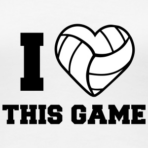 I Love This Game Volleyball Logo Women's T-Shirts - Women's Premium T-Shirt