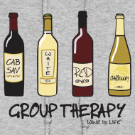 Design ~ Group Therapy - Womens Hooded Sweatshirt