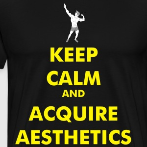Keep Calm and acquire aesthetics yellow - Men's Premium T-Shirt