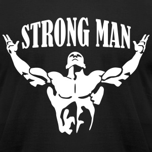 Strongman T-Shirts - Men's T-Shirt by American Apparel