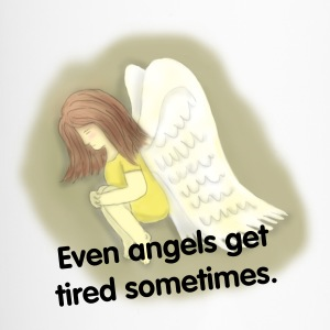angel resting her wings Bottles & Mugs - Travel Mug