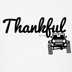 Thankful for my Jeep - Round Lights - Men's T-Shirt