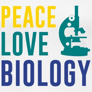 Peace Love Biology Women's T-Shirts - Women's Premium T-Shirt