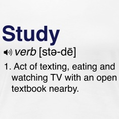 Funny Studying Definition Women's T-Shirts
