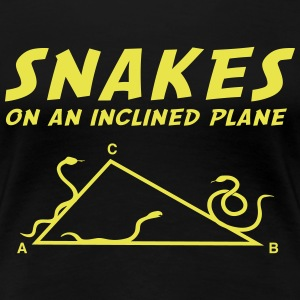 Snakes on an Inclined Plane (Math) Women's T-Shirts - Women's Premium T-Shirt