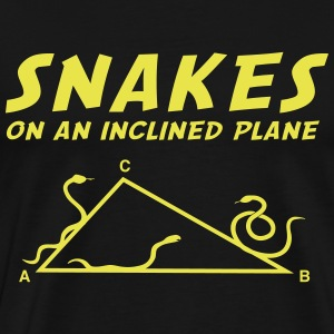 Snakes on an Inclined Plane (Math) T-Shirts - Men's Premium T-Shirt