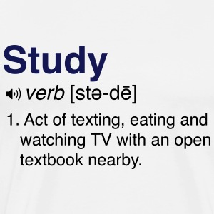 Funny Studying Definition T-Shirts - Men's Premium T-Shirt