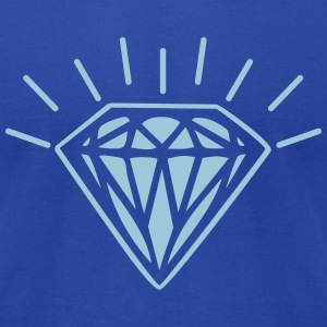 shiny diamond T-Shirts - Men's T-Shirt by American Apparel