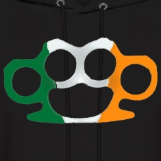 Irish Flag Brass Knuckles  Hoodies