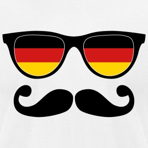 german moustache glasses nerd T-Shirts - Men's T-Shirt by American Apparel
