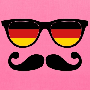 german moustache glasses nerd Bags & backpacks - Tote Bag