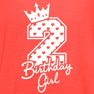 Two Years - Second Birthday - Birthday Girl Tanks - Women's Flowy Tank Top by Bella