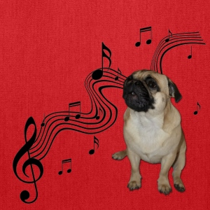 Music Pug with sheet music Bags & backpacks - Tote Bag