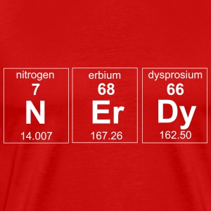 Periodic Table Nerdy Elements T-Shirts - Men's Premium T-Shirt