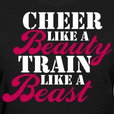 Cheer Beauty Beast Women's T-Shirts