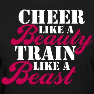 Cheer Beauty Beast Women's T-Shirts - Women's T-Shirt