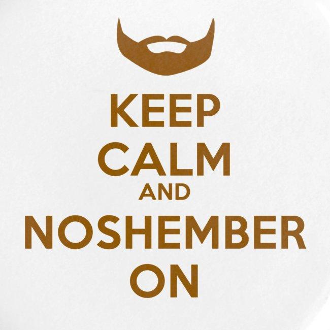 Noshember Keep Calm Button