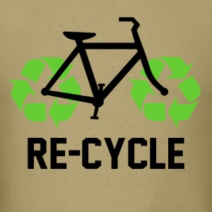 Re Cycle funny Bicycle - Men's T-Shirt