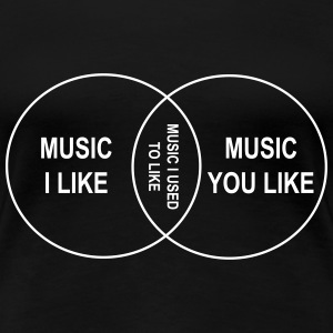 Venn Diagram. Music I like Women's T-Shirts - Women's Premium T-Shirt
