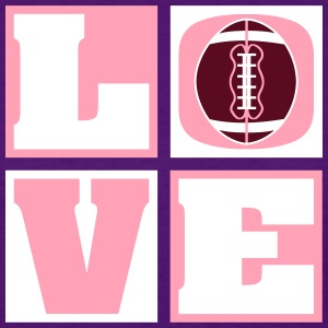 Love Football!  (Women's) - Women's T-Shirt